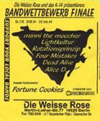 2. Platz im Vorausscheid Weiße Rose Band-Contest